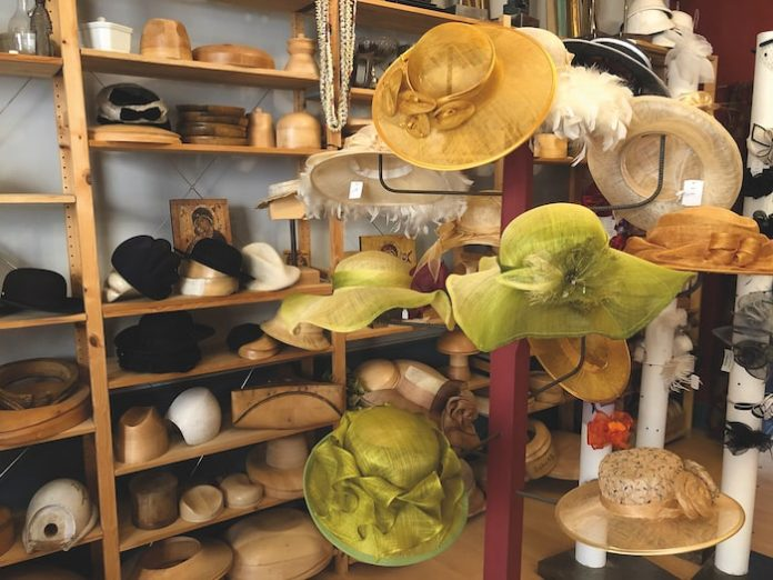 Hats for sale at Chapellerie