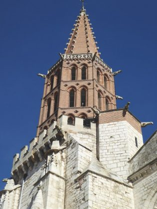 The Toulousain-style belltower, Caussade.