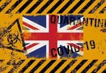 UK flag on grunge background