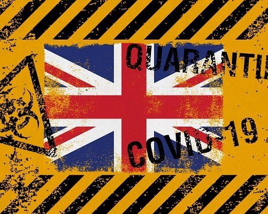 UK flag on grunge background