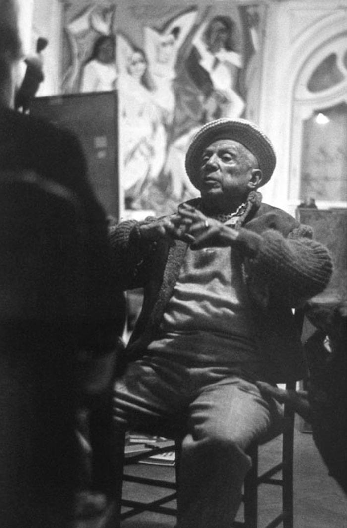 Pablo Picasso in 'La Californie'.