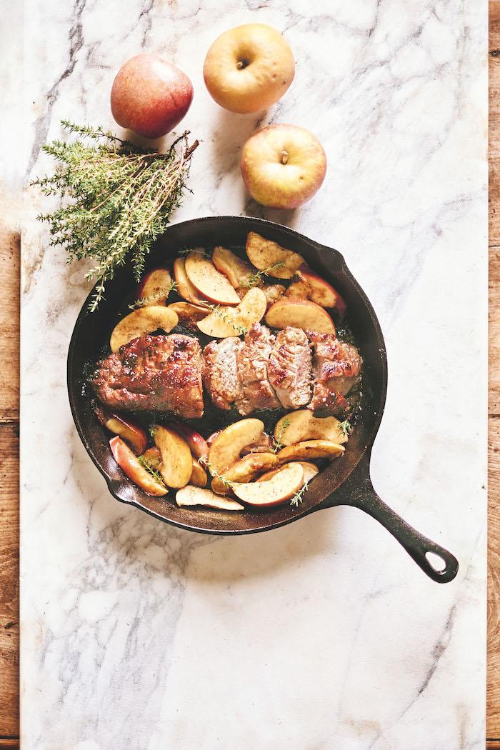 Pork tenderloin with apples, Miss Maggie's Kitchen