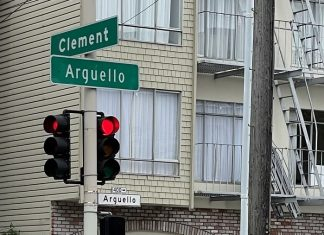 Clement Street and Arguello Boulevard