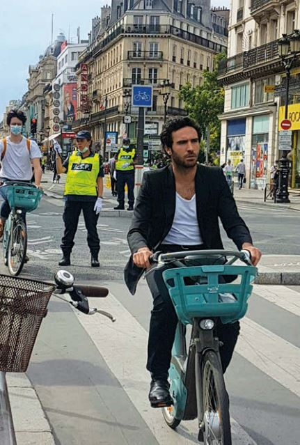 Cyclist in France.