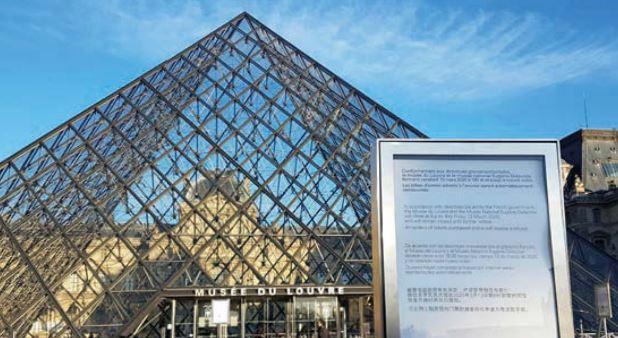 Louvre has undertaken refurbishment during lockdown