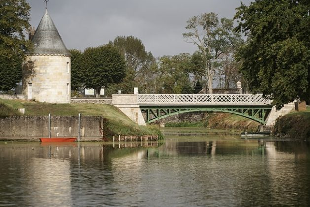 The bridge to bucolic grounds where weddings are often held.