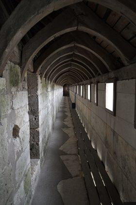 The enclosed Rampart Walk