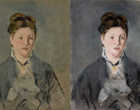Manet's Madame Manet Before and After