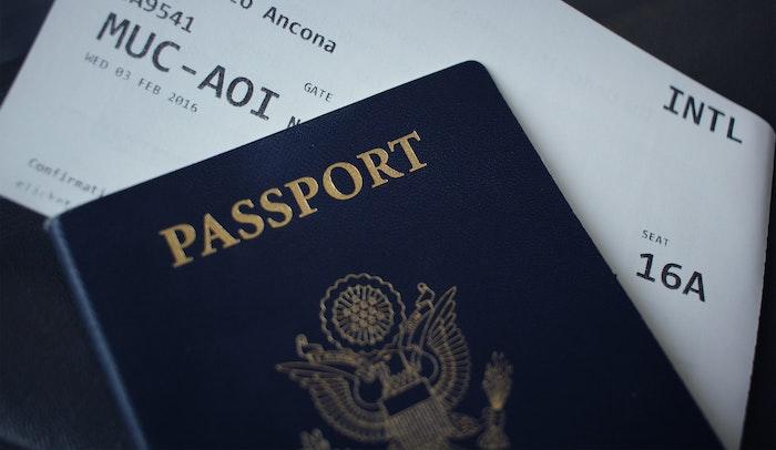Passport and tickets.