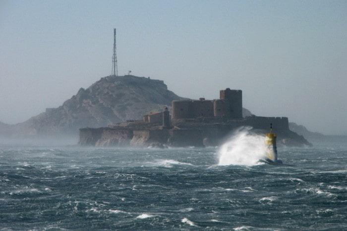 Mistral wind blowing near Marseille.