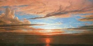Francis Danby, Sunset at Sea after a Storm,