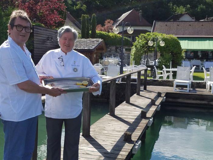 Chef Nico Roselet poisson du lac