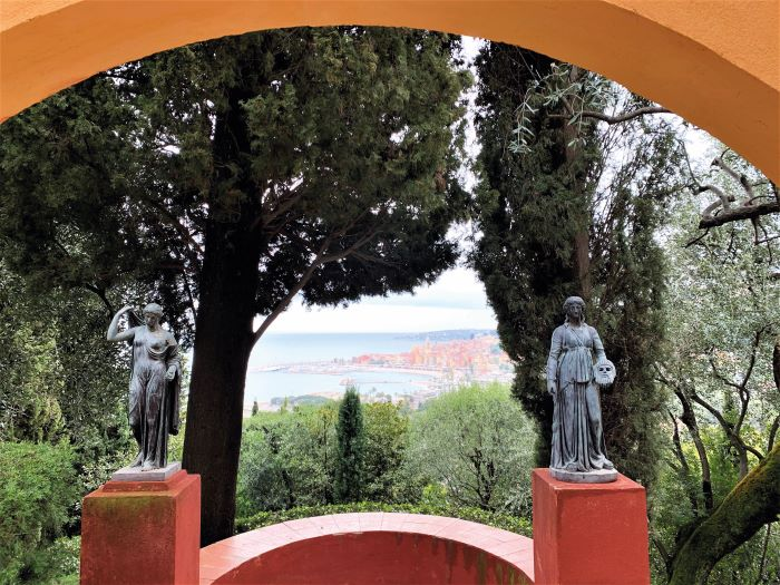 Colombieres view of Menton