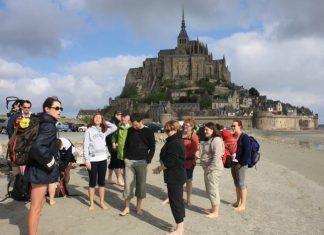 Mont Saint Michel bay walk group