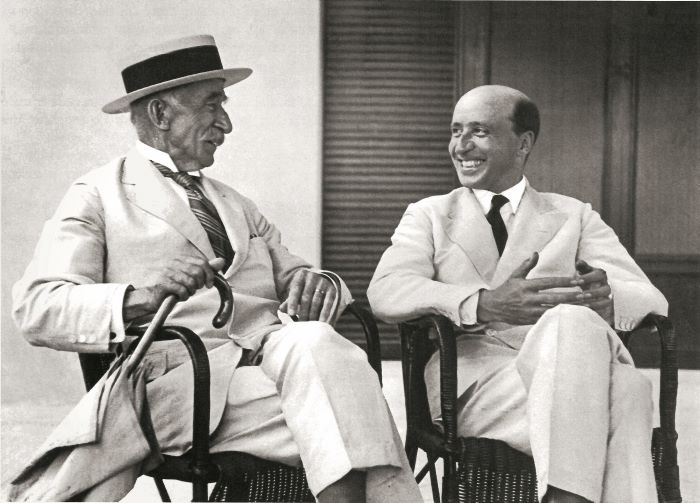 Antoine Sella with his son, André Sella, c. 1928; Riva yachts at the Hotel du Cap-Eden-Roc