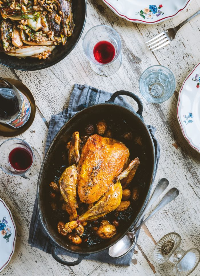 Roast Chicken with Prunes