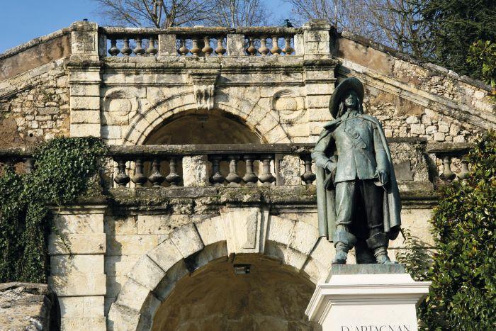 he statue of d'Artagnan in Auch