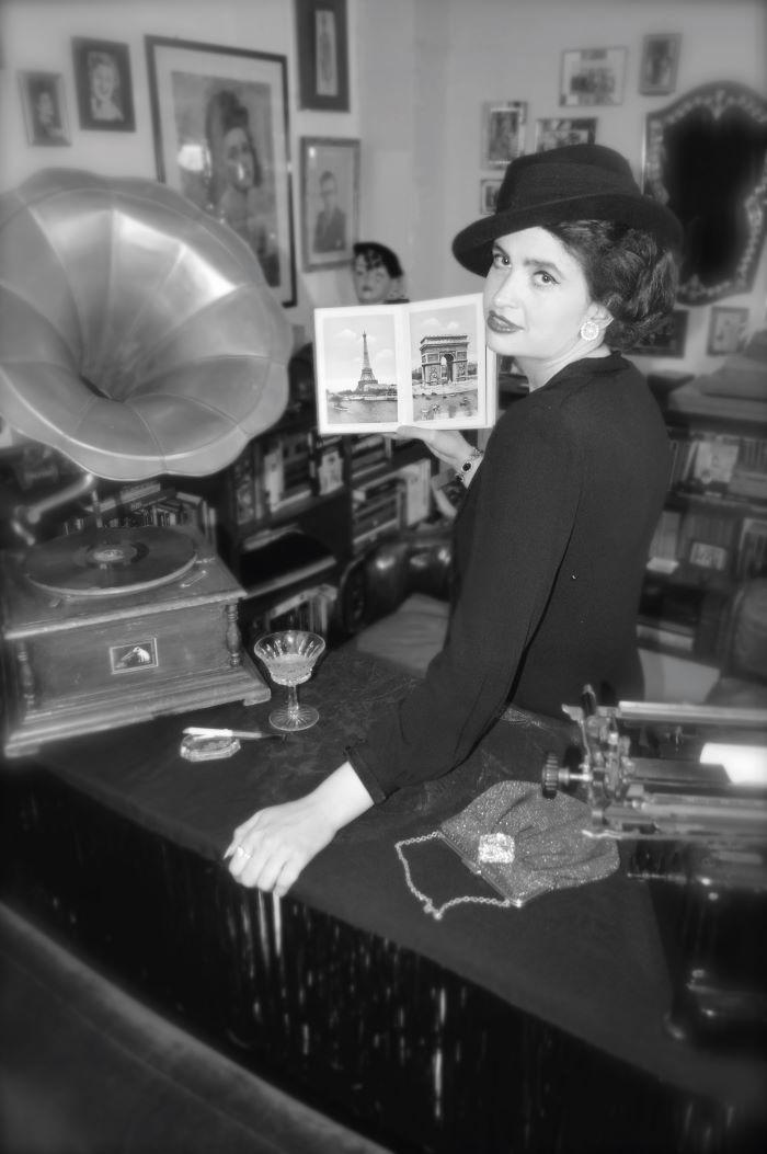 Chloe Govan poses as Chanel in a vintage photo shoot © Geneviève at My Joli Coeur