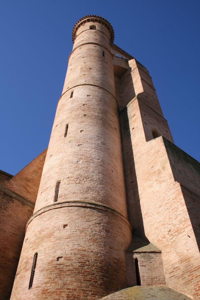 Collegiate church tower, L'Isle Jourdain