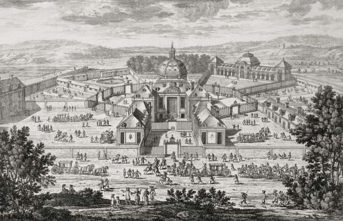 The Menagerie, entrance view, Adam Perelle (1638-1695), Versailles, châteaux de Versailles et de Trianon