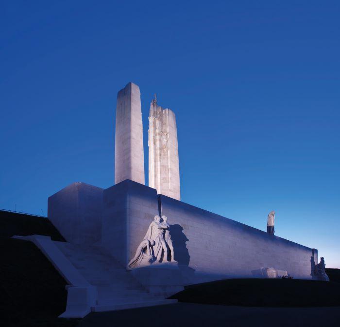 the memorial at Vimy