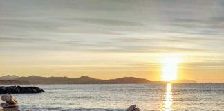 cairns on the beach