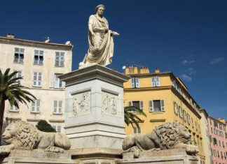 napoleon statue in ajaccio