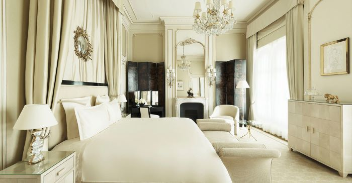 Chanel's suite at the Ritz today;