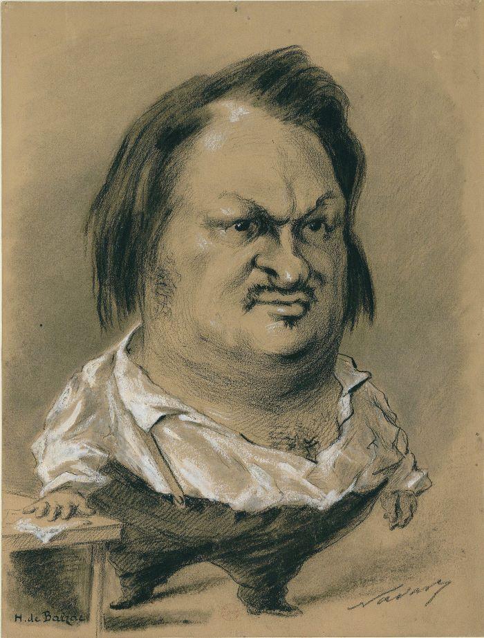 Dessin de Nadar 1850 Balzac