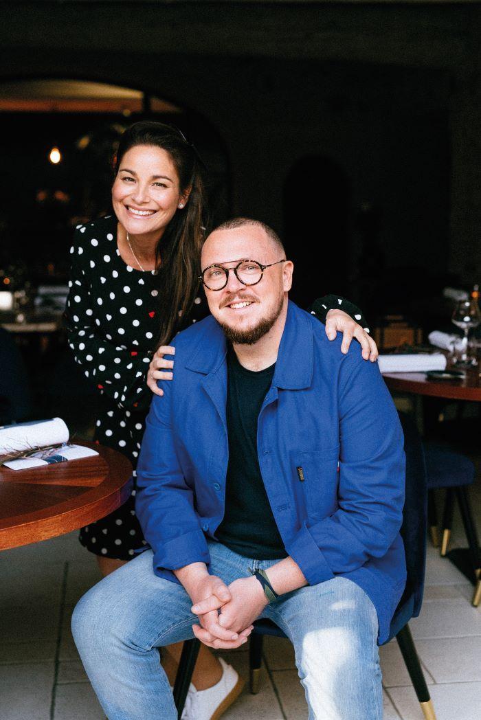 Chef Edouard Beaufils and restaurant owner Jessica Cogoni © BEC