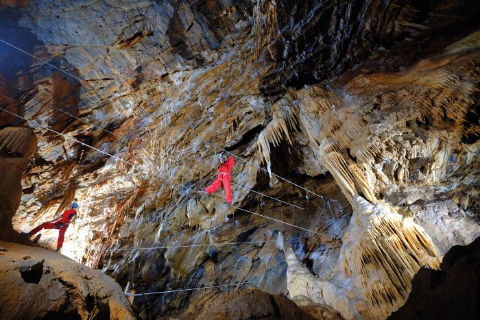 Undergound fun is on offer at the Accro Grotte de Cabrespine adventure park