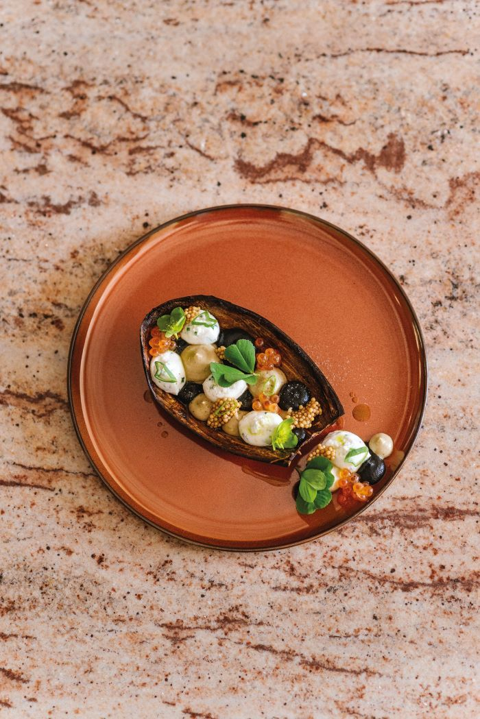 Aubergine brousse is among the splendidly tantalising dishes on the menu © BEC