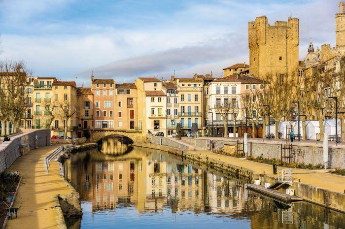 Canal de la Robine in Narbonne shutterstock