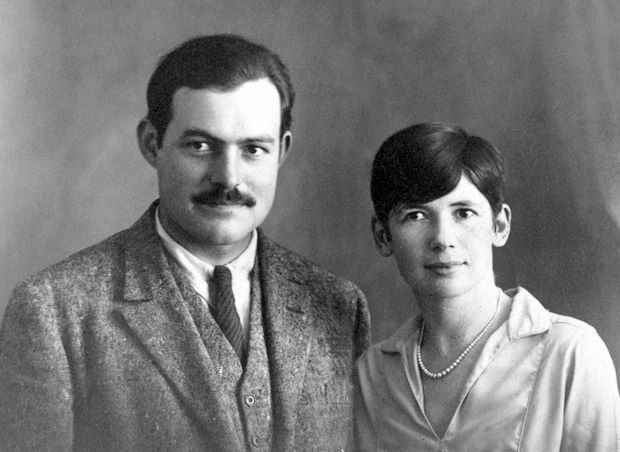 Ernest and Pauline Hemingway (née Pfeiffer) in Paris in 1927