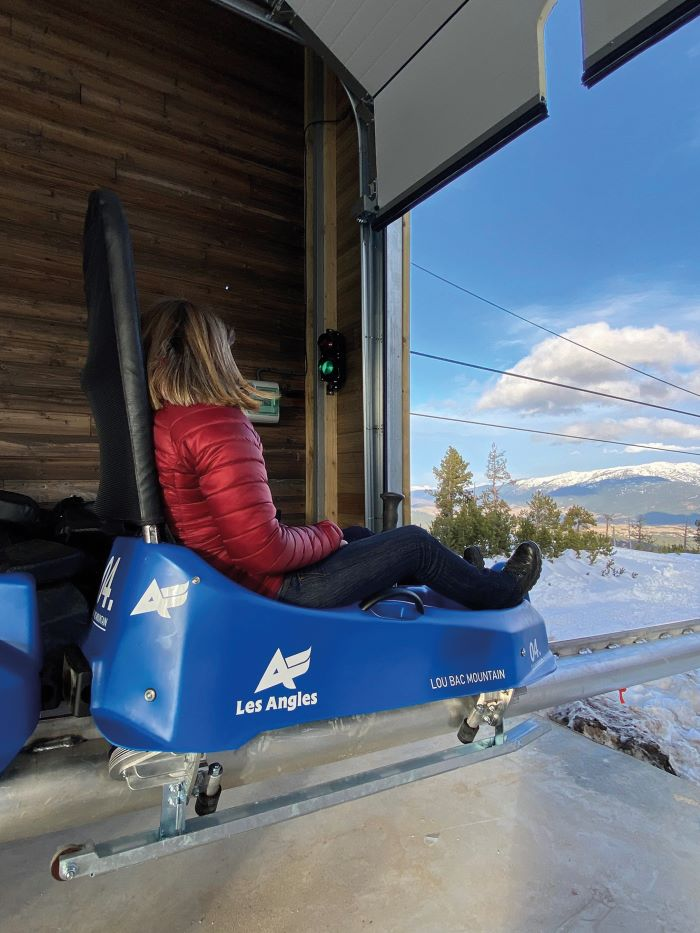 The adrenaline-boosting sled monorail at Les Angles is the longest in the Pyrenees