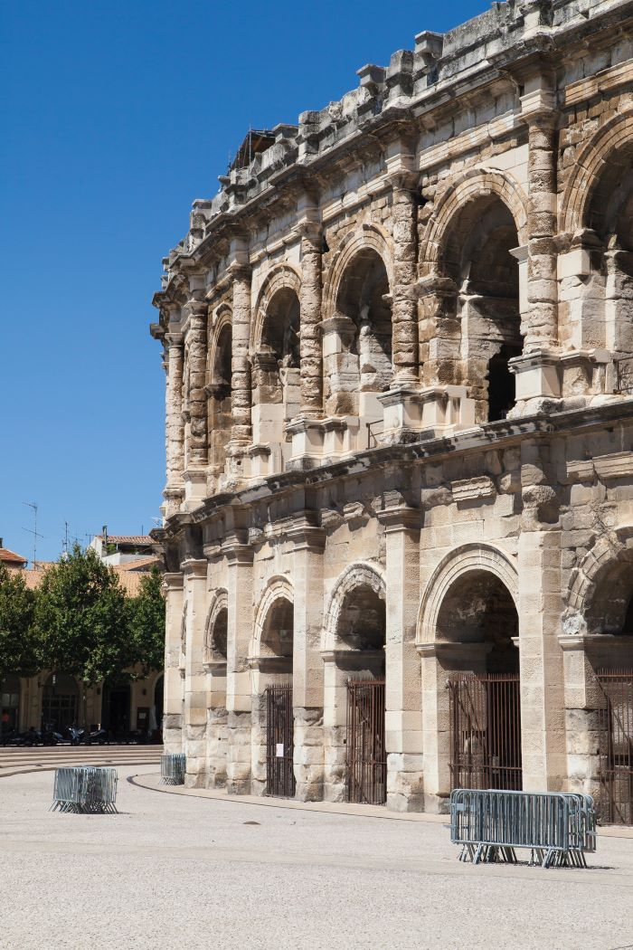 ; the Roman amphitheatre in Nîmes