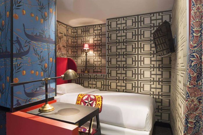 Lacroix's style is evident in the Continent's rooms