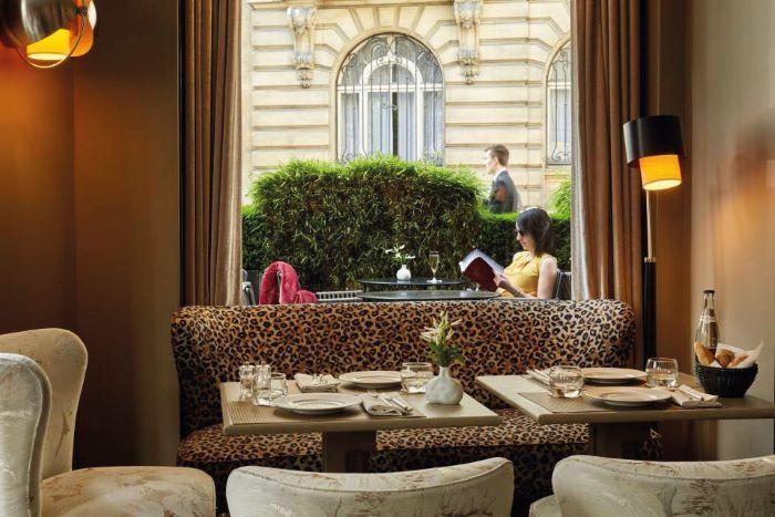 The terrace at Le Pavillon des Lettres