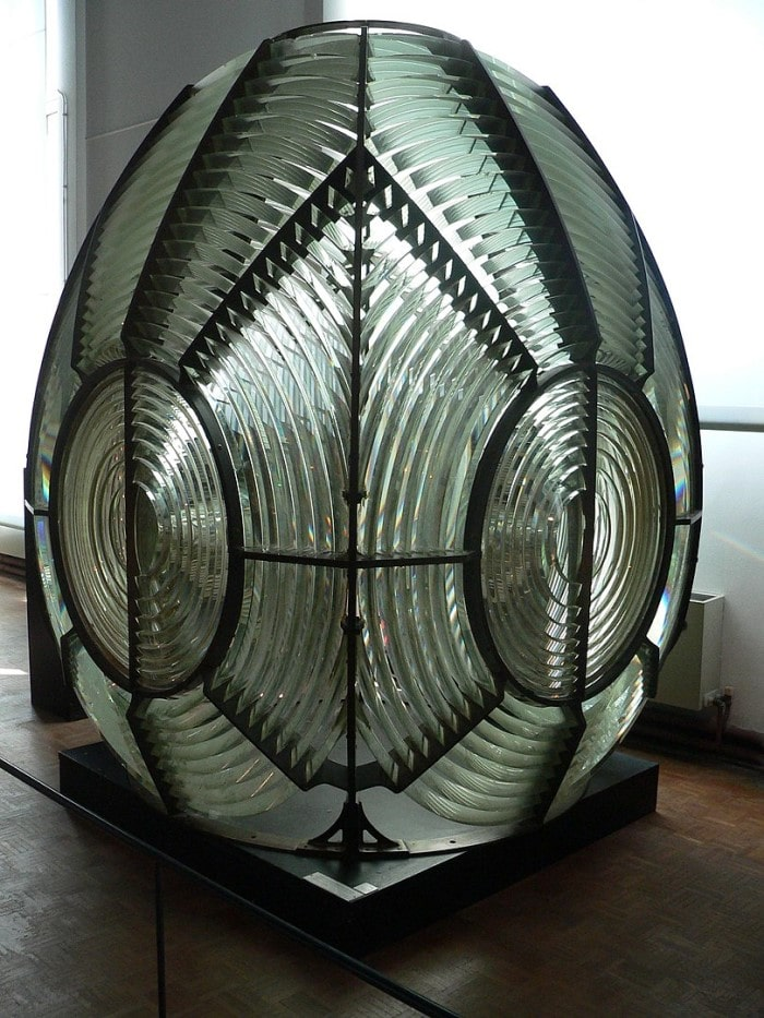 First-order rotating catadioptric Fresnel lens