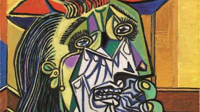 A fragment of Picasso's Weeping woman